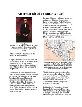 "Info Reading Text - Manifest Destiny: ""American blood on American soil!"""