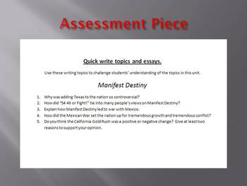 Info Reading Text - Manifest Destiny Bundle (no prep/sub plans)