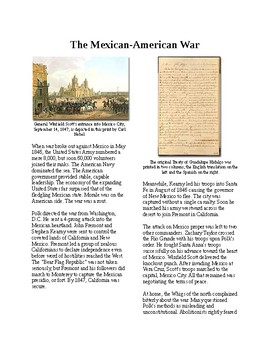 Info Reading Text - Manifest Destiny: The Mexican-American War (no prep/sub)