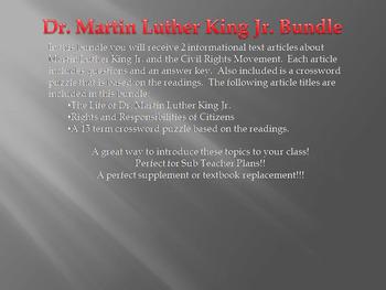 Info Reading Text - Martin Luther King Jr. Mini Bundle (no prep/sub plans)