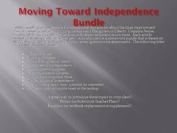 Info Reading Text - Moving Toward Independence Bundle (no prep/sub plans)