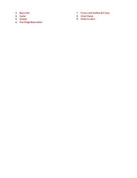 Info Reading Text - Native Americans: Black Elk (no prep/sub plan)