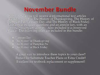 Info Reading Text - November Bundle (no prep/sub plans)