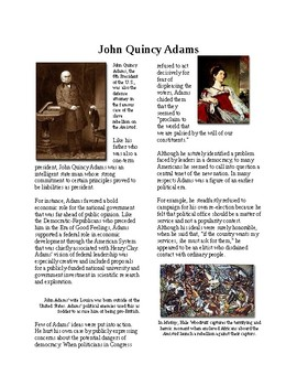 Info Reading Text - Politics of the New Nation after 1812: John Quincy Adams