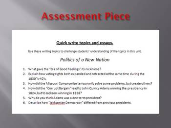 Info Reading Text - Politics of the New Nation after 1812 (no prep/sub plans)