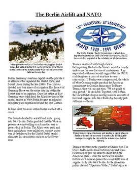 Info Reading Text - Postwar Challenges: Berlin Airlift and NATO no prep/sub plan