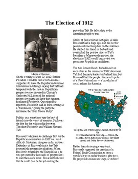 Info Reading Text - Progressives in the White House: Election of 1912 (no prep)