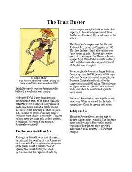 Info Reading Text - Progressives in the White House: The Trust Buster (no prep)