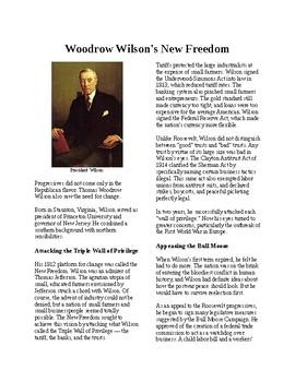 Info Reading Text - Progressives in the White House: Woodrow Wilson (no prep)