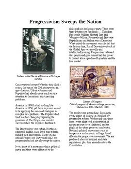 Info Reading Text - Progressivism: Progressivism Sweeps the Nation (no prep)