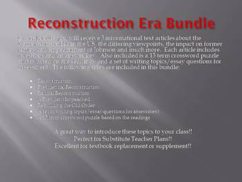 Info Reading Text - Reconstruction Bundle (no prep/sub)