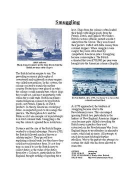 Info Reading Text - Revolutionary Thinking: Smuggling (no