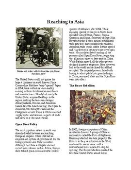 Info Reading Text - Seeking a US Empire: Reaching to Asia (no prep/sub plans)