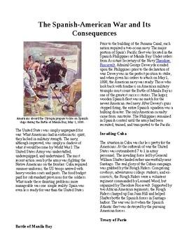 Info Reading Text - Seeking a US Empire: The Spanish-American War (no prep)
