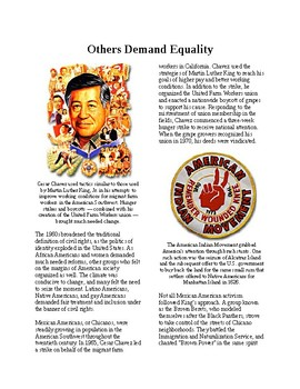Info Reading Text - The 60's Culture: Minorities demand Equal Rights (no prep)