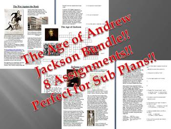Info Reading Text - The Age of Andrew Jackson Bundle (no prep/sub plans)