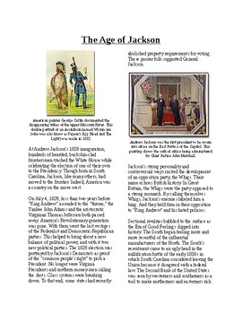 Info Reading Text - The Age of Jackson (no prep/sub plans)