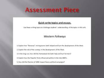 Info Reading Text - The American West: Western Folkways Bundle (no prep/sub)