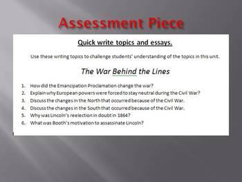 Info Reading Text - The Civil War Behind the Lines Bundle (no prep/sub plans)