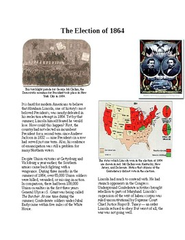 Info Reading Text - The Civil War Behind the Lines: The Election of 1864