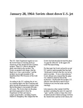 Info Reading Text - The Cold War: Soviets shoot down US jet