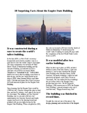 Info Reading Text - The Empire State Building (no prep/sub plans)