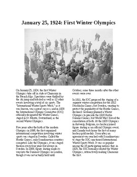 Info Reading Text - The First Winter Olympics