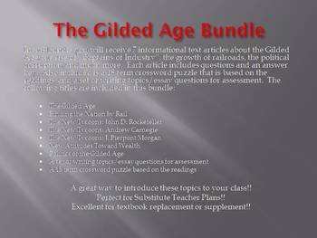 Info Reading Text - The Gilded Age Bundle (no prep/sub plans)