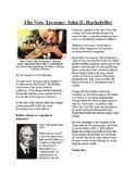 Info Reading Text- The Gilded Age: John D. Rockefeller (no prep/sub plan)