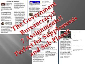 Info Reading Text - The Government Bureaucracy Bundle (no prep/sub plans)