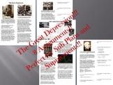 Info Reading Text - The Great Depression Bundle (no prep/sub plans)