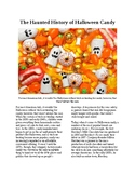 Info Reading Text - The Haunted History of Halloween Candy (no prep/sub plan)