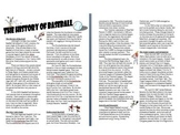 Info Reading Text - The History of Baseball (no prep/sub plans)