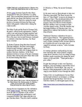 Info Reading Text - The Nazi's War on Christmas (no prep/sub plans)
