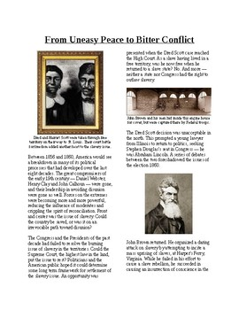 Info Reading Text - The Road to Civil War: Uneasy Peace to Bitter Conflict