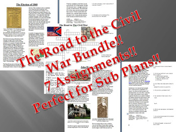 Info Reading Text - The Road to the Civil War Bundle