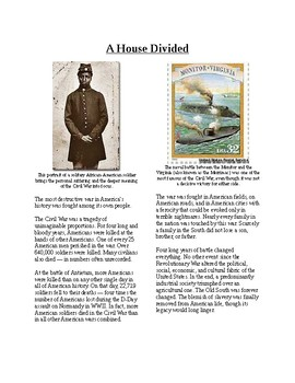 Info Reading Text - The US Civil War: A House Divided (no