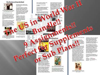 Info Reading Text - The US in World War II Bundle (no prep/sub plans)