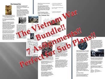 Info Reading Text - The Vietnam War Bundle (no prep/sub plans)