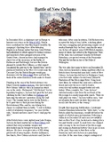Info Reading Text - The War of 1812: Battle of New Orleans (no prep/sub plan)