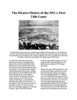 Info Reading Text - The bizarre history of the first NFL title game (no prep)
