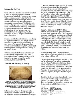 Info Reading Text - Understanding the Past: Historians and their Time (no prep)