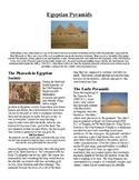 Info Reading Text/Vocab Activity - The Egyptian Pyramids (