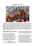 Info Reading Text/Vocab - Chinese New Year (no prep/sub plans)