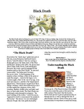 Info Reading Text/Vocab - European History: The Black Death (no prep/sub plans)