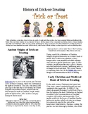 Info Reading Text/Vocab: Halloween: History of Trick or Treating (no prep/sub)