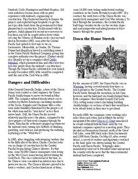 Info Reading Text/Vocab - The Transcontinental Railroad (no prep/sub plans)