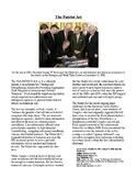 Info Reading Text/Vocab - 9/11: The USA Patriot Act (no prep/sub plans)
