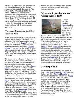 Info Reading Text/Vocab - Westward Expansion before Civil War (no prep/sub)