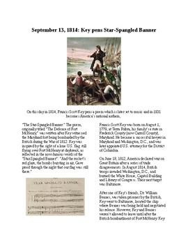 Info Reading Text - War of 1812: Star Spangled Banner Written (no prep/sub)